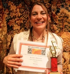 ASC 2010 recipient of Founders Encouragement Award - Kathy Prosser